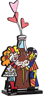 Enesco Coke by Romero Britto Hugging Coke Bottle Figurine, 11-Inch