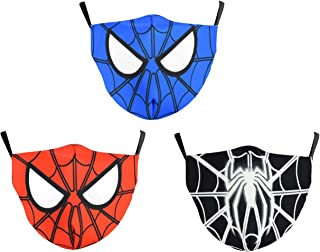 Novelty Spider Pattern Face Cover for Kids Anti Dust, UV...