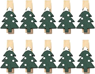 Supvox 25 stycken mini träklämmor handske älg julgran form trä klamrar dekorativa klämmor jul dekoration klammer foto kläm...