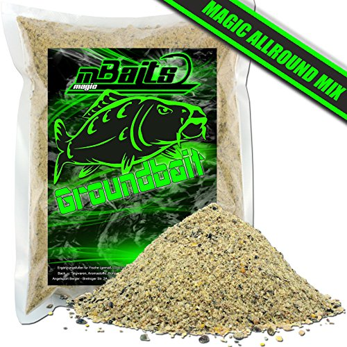 Angel-Berger Magic Baits Groundbait Grundfutter Angelfutter Verschiedene Sorten (Magic Allround Mix, 3Kg)