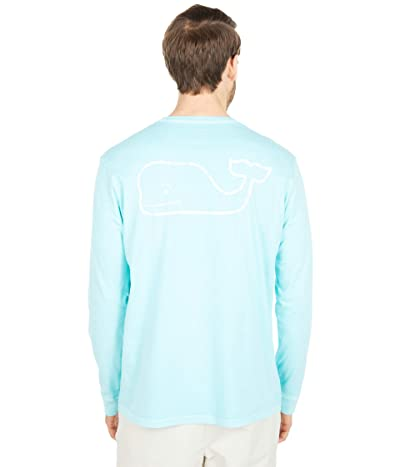 Vineyard Vines Long Sleeve Garment Dyed Vintage Whale Pocket T-Shirt