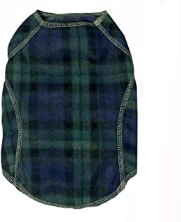 Cloak and Dawggie Fleece Patterned Dog Sweater Plaid Dog Fleece Pullover Best Cold Weather Winter Polar Fleece All Breed