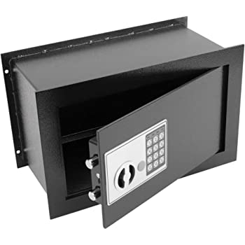 PrimeMatik - Caja Fuerte de Seguridad empotrada con código electrónico Digital 36x19x23cm Negra: Amazon.es: Electrónica