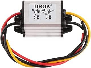 dcdc コンバーター 交換 DROK 防水 DC バックコンバータ 電圧レギュレータ 8-22V〜1-15V 5V 12V 3A 可変出力電源 変圧器