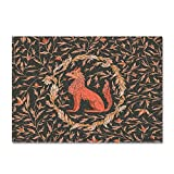 CURTAINSCSR Alfombra de Felpa Lobo Animal 60x90 cm Alfombra Mullida, Alfombra Antideslizante para el Hogar, Felpudo Cuadrado, Adecuado para Salón Dormitorio Baño Sofá Silla Cojín.