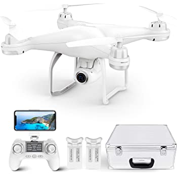 Potensic T25 GPS Drone, FPV RC Drone with Camera 1080P HD WiFi Live Video, Auto Return Home, Altitude Hold, Follow Me, 2 Batteries and Carrying Case