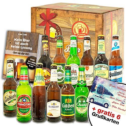 12 Biersorten Welt + Deutschland/Männerbox Bier/Geburtstagsgeschenk Mann