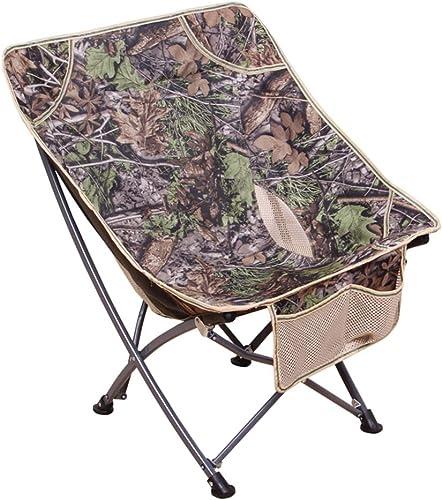 WYZBD Extérieur portable Pliant Chaise Dossier pêche Chaise BBQ Plage Tabouret Lune Chaise Lazy Chair