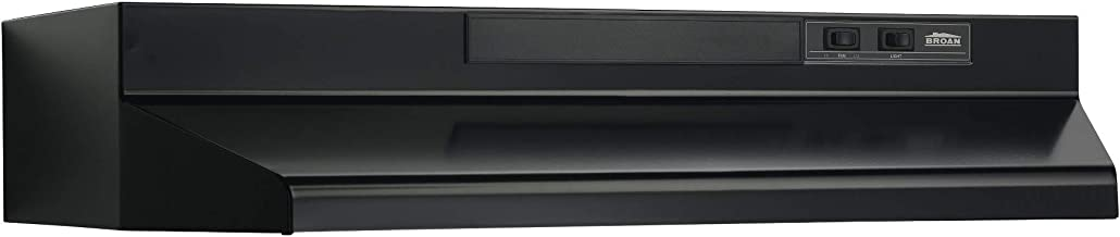 Broan-NuTone, Black Broan F403023 Two-Speed Four-Way Convertible Range Hood, 30-Inch