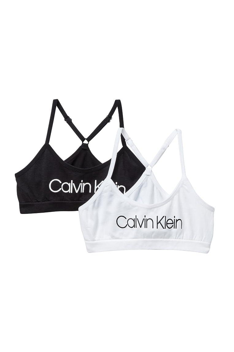 Calvin Klein Big Girls' Seamless Racerback Crop Bra (Pack of 2)
