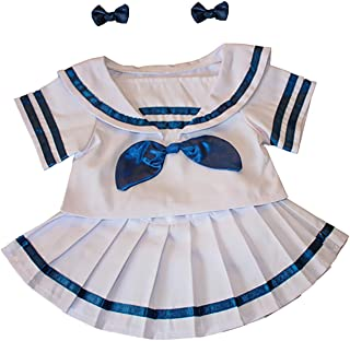 Sailor Girl w/Bows Dress Outfit Teddy Bear Clothes Fits Most 14