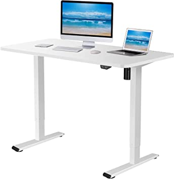 Amazon.com: Flexispot EC1 Electric White Standing Desk Adjustable Height  Desk, 48 x 30 Inches Whole Piece Board Sit Stand Desk Home Office Workstation  Stand up Desk (White Frame + 48 in White