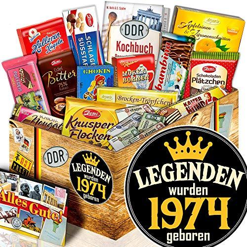 Legenden 1974 - Geburtstags Geschenk für Sie - Schokolade Geschenk DDR
