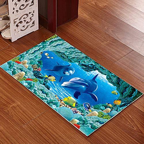 KEAINIDENI toiletmat 3D bedrukte badkamer mat tapijt kit anti-slip bad matten vloer tapijt huisdier pad grote grootte deur vloer stoel matras voor Decor deurmatten about 50x80cm 17 Haidishijie