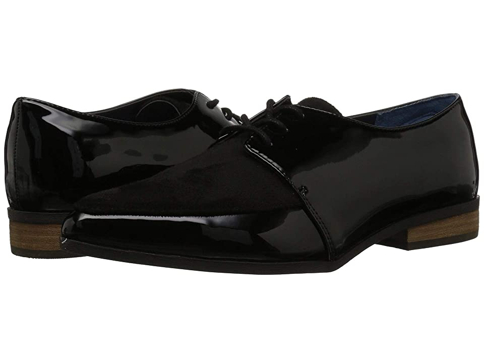 Retro Vintage Flats and Low Heel Shoes Dr. Scholls Equal Black PatentBlack Microfiber Womens Shoes $70.00 AT vintagedancer.com