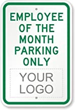 Diuangfoong Employee of The Month Parking Only with Logo Sign 18