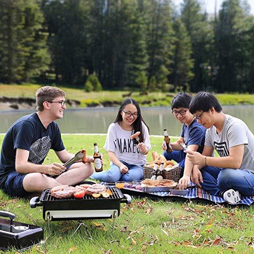 61z0dprKMpL. SL500  - ZTMN Tragbarer Holzkohlegrill im Freien, Faltbarer Grill Grillplatz für Camping Wandern Grillwerkzeug-A 43x29x38cm (17x11x15inch)