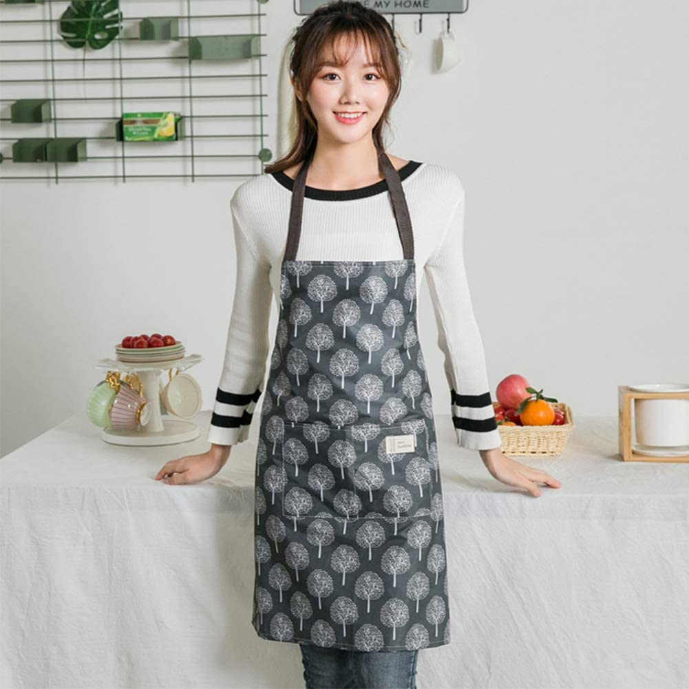 1 PC Apron For Women Cooking Apron PVC Waterproof Chefs Aprons Kitchen Bib Apron Pinafore Apron Wipe Clean Aprons With Pockets For Kitchen Cooking Baking Grilling Household Cleaning