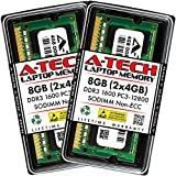 A-Tech 8GB (2x4GB) DDR3 1600MHz SODIMM PC3-12800 CL11 204-Pin Non-ECC Unbuffered Notebook Laptop RAM Memory Upgrade Kit