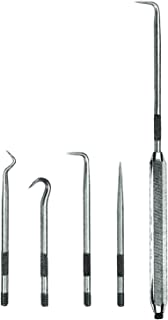 Pick and Hook Set, Steel, 5-9/16in.L, 4 pcs