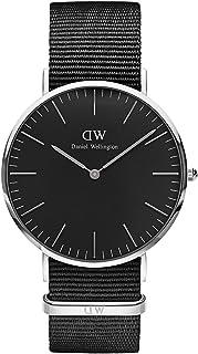 Daniel Wellington Classic Cornwall, orologio da uomo, colore nero/argento, 40 mm, NATO, per uomo
