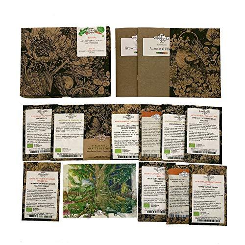 Anfängergemüse für das Hochbeet (Bio) - Samen-Geschenkset mit 8 Gemüse- und 3 Kräutersorten für einen guten Start