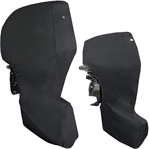2021 labworkauto outlet sale Boat Motor Covers Full Outboard Motor outlet sale Cover with 600D Heavy Duty Oxford Fabric Extra PVC Coating,Waterproof Outboard Engine Covers for Motor online sale