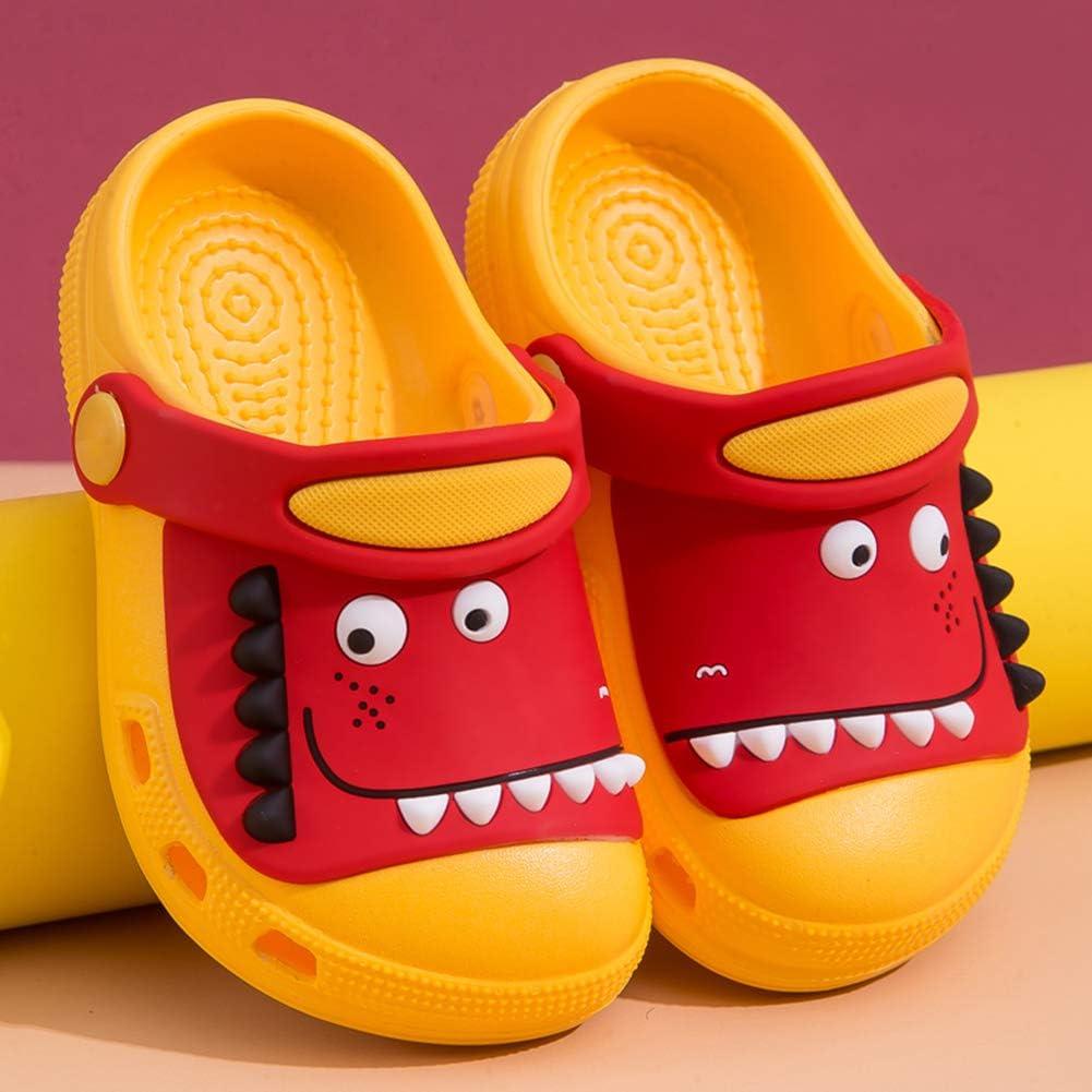 Kids Clogs Children Dinosaur Lightweight Mules Garden Shoes Boys Girls Toddler Slip On Pool Beach Sandals
