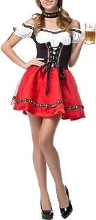 Quesera Women's Oktoberfest Costume Maid Dirndl Carnival Bavarian Sexy Short Dress