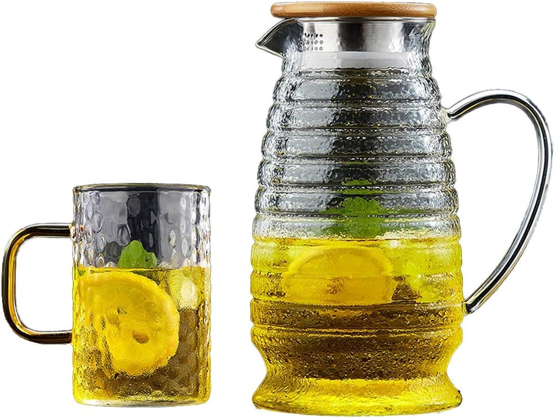 Tasse à café Juice Jug, cuisine familiale costume en verre café-boutique auberge au café service à thé club bureau restaurant Service à thé (Couleur    10)