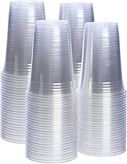 SNH Juice Cup 20Oz Clear Strong Disposable 50 Pieces - Ideal for iced coffee, smoothies, Bubble Boba tea, milkshakes, froz...