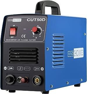 VIVOHOME DC Inverter Non-Touch Pilot Arc Plasma Cutter Cutting Machine Dual Voltage 110V/220V CUT50D Blue