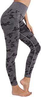 Aoxjox Yoga Pants for Women Workout High Waisted Gym Sport Camo Seamless Leggings