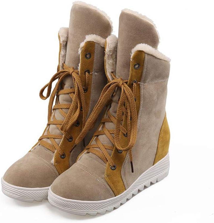 Super frist Christmas Women Winter Warm Boots Cotton Snow Boot Flat Platform Lace Up Waterproof high Boots