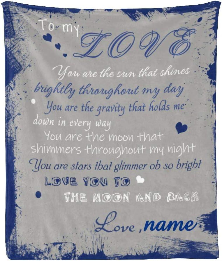 Custom Blanket Personalized to 特売 My Love Fleece 毎日激安特売で 営業中です Name Thr Text Soft