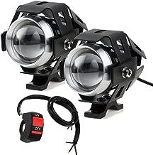 Prozor - Faros delanteros para motocicleta con interruptor universal de 3 botones, 2 piezas, 15 W, 3000 lm, Cree U5 LED, antiniebla