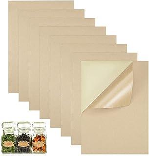 A4 bruin papier, 50 vellen, zelfklevend kraftpapier, A4 stickers papier, helder afdrukken, goede textuur, voor kopieën, la...