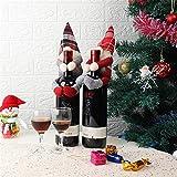 Gnomo Funda Para Botella de Vino Adorno Navidad Soporte Para Botella Hugger Sin Rostro Santa Tomte Muñeca Felpa Para Fiestas Vacaciones Restaurante Hotel Inauguración Casa (gris)