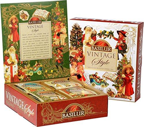 BASILUR Vintage Assorted Schwarzer & Grüner Tee 40 Gastro-Teebeutel