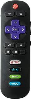 Remote Control for TCL Roku TV Smart TV RC280 55UP120 55us57 55S401 32S3850 40FS3800 48FS3700 32S3800 55FS3700 48FS4610R 32S3850A 55FS4610R 40FS4610R with NETFLIX Sling HULU VUDU Keys 2017 2018 tcl tv