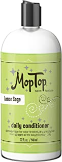 32oz MopTop Salon Daily Conditioner for Dry, Thick, Wavy, Curly & Kinky-Coily, Color Treated & Natural Hair, made w/Aloe & Honey reduce Frizz, increase Moisture, Manageability for Smooth, Silky Hair