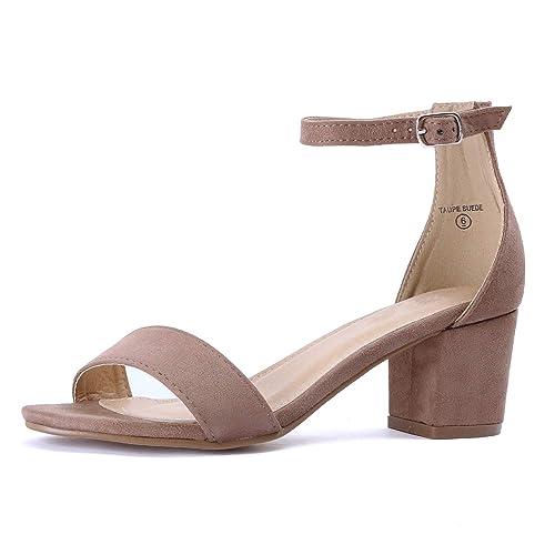 b0c408d7ff7 Taupe Sandal Heels  Amazon.com