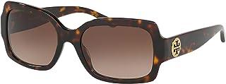 Tory Burch 0TY7135 172813 Women Sunglasses Dark/Tortoise - Light Brown Lenses 55MM