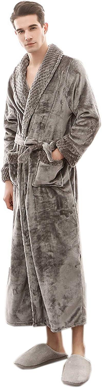 ZumZup Women's Men's Bathrobe Full Length Dressing Gowns Coral Fleece Housecoat Sleepwear