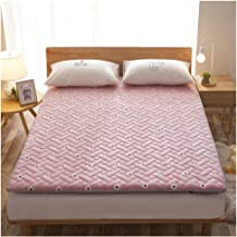 Student Dormitory Mattress, Tatami Mattress, 6 cm Thick, Soft and Comfortable,Single/Double Thick Warm Mattress,Pink,90 * ...
