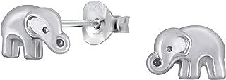 Hypoallergenic Sterling Silver Elephant Tiny Stud Earrings (Nickel Free)