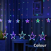 Elec tech LED Star Lights Dormitory Decorative Lights Starry Room Curtain lamp Light String Battery USB Dual-use Remote Control Star LED String