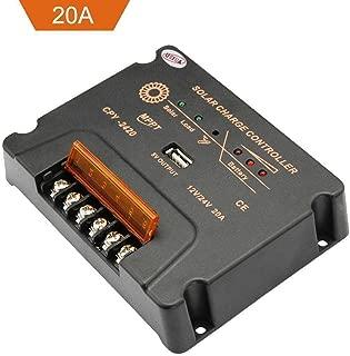 Sun YOBA 20A 12V/24V MPPT Solar Panel Charger Controller Battery Regulator USB LCD
