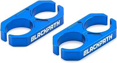 Black Path - Universal Coilover Reservoir Bracket Shock Reservoir Mount Brackets (Blue) Billet T6 Aluminum