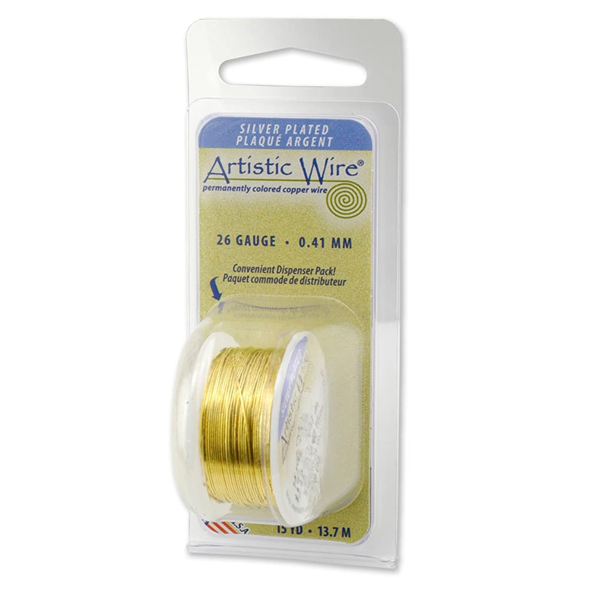 Artistic Wire 32-Gauge Silver Plated Lemon Wire, 30-Yards